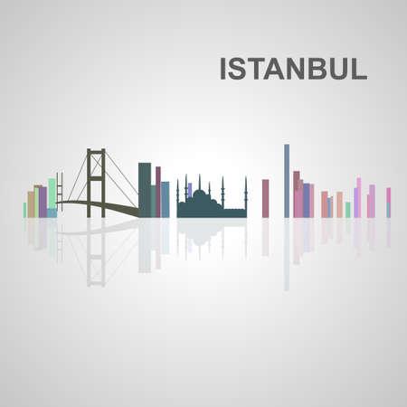 Skyline di Istanbul per la progettazione, il concetto di illustrazione. Archivio Fotografico - 49912358