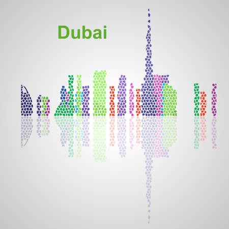 Skyline di Dubai per il vostro disegno, concetto illustrazione. Archivio Fotografico - 50903427