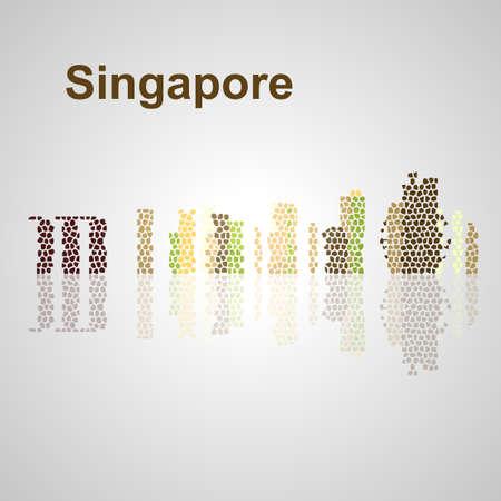 Singapore skyline per la progettazione, concetto illustrazione. Archivio Fotografico - 50903433