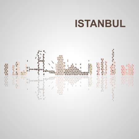 Skyline di Istanbul per la progettazione, il concetto di illustrazione. Archivio Fotografico - 50903445