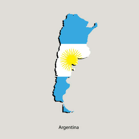 Map of Argentina  for your design, concept Illustration.