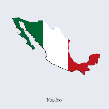 Map of Mexico  for your design, concept Illustration. Stock Illustratie