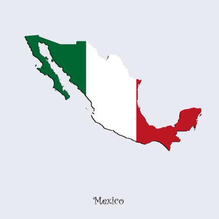Mappa del Messico per la progettazione, il concetto di illustrazione. Archivio Fotografico - 52937844