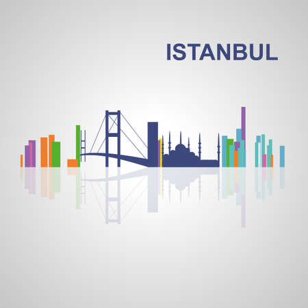 sky scrapers: Istanbul skyline for your design, concept Illustration.