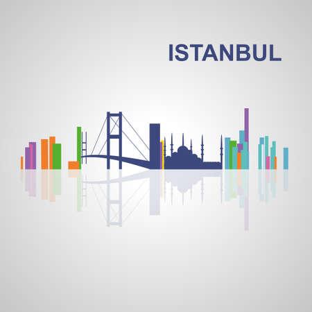 Skyline di Istanbul per la progettazione, il concetto di illustrazione. Archivio Fotografico - 52937845