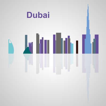 Skyline di Dubai per il vostro disegno, concetto illustrazione. Archivio Fotografico - 52937851