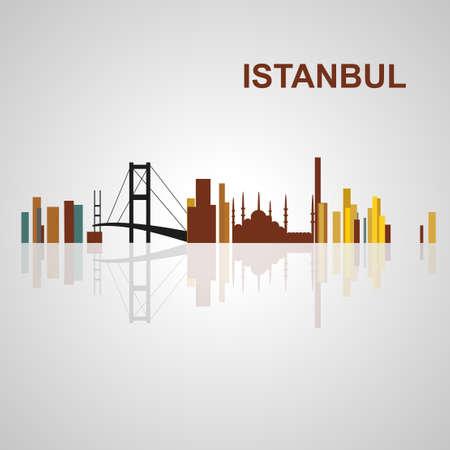 Skyline di Istanbul per la progettazione, il concetto di illustrazione. Archivio Fotografico - 54579060