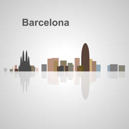 Barcelona skyline for your design, concept Illustration. Stock Illustratie