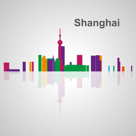 shanghai skyline: Shanghai skyline for your design, concept Illustration.