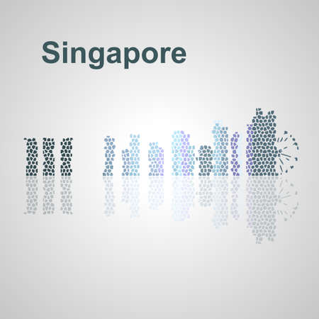 Singapore skyline for your design, concept Illustration.