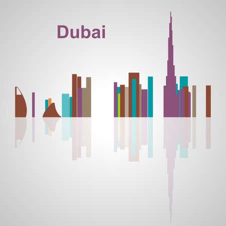 Skyline di Dubai per il vostro disegno, concetto illustrazione. Archivio Fotografico - 54579066