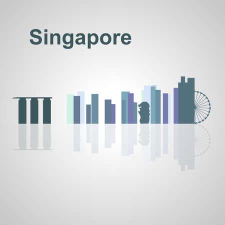 Singapore skyline per la progettazione, concetto illustrazione. Archivio Fotografico - 54579065