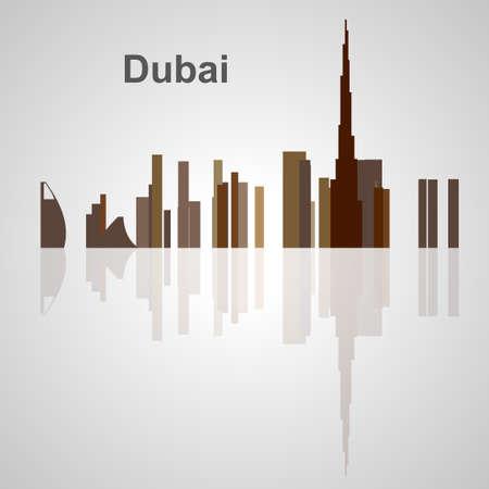 Skyline di Dubai per il vostro disegno, concetto illustrazione. Archivio Fotografico - 57015606