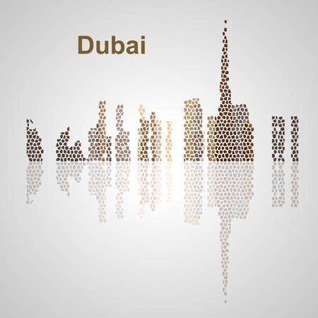 Dubai skyline for your design, concept Illustration.