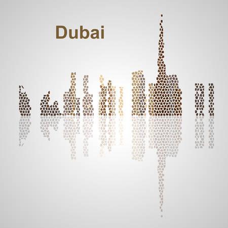 Skyline di Dubai per il vostro disegno, concetto illustrazione. Archivio Fotografico - 57015603