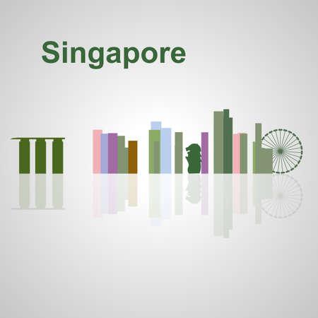 Singapore skyline per la progettazione, concetto illustrazione. Archivio Fotografico - 57015608