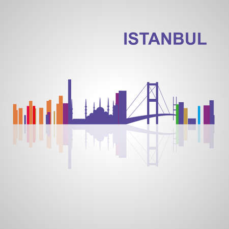 Skyline di Istanbul per la progettazione, il concetto di illustrazione. Archivio Fotografico - 57015610