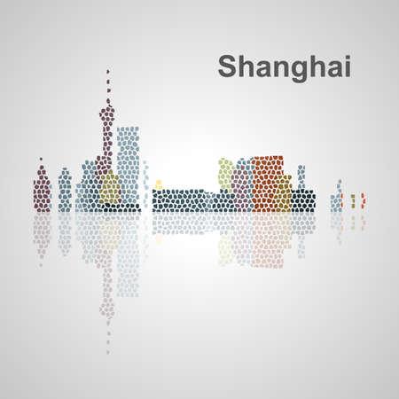 Singapore skyline per la progettazione, concetto illustrazione. Archivio Fotografico - 57015609