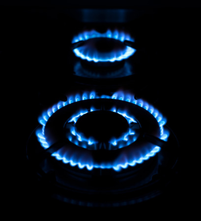 abstractly: Flame from a gas stove