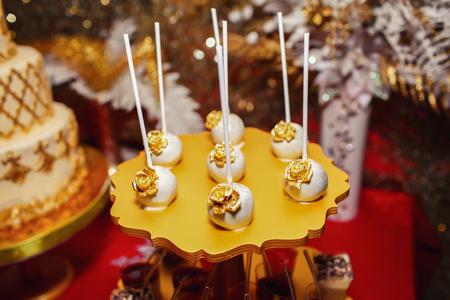 luxury delicious desserts prepared on birthday