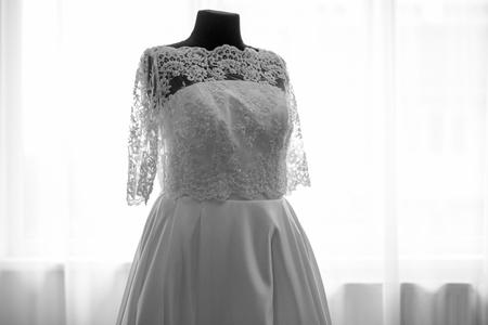 stylish wedding dress Stock Photo