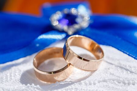 love declaration: stylish wedding rings for wedding marriage ceremony