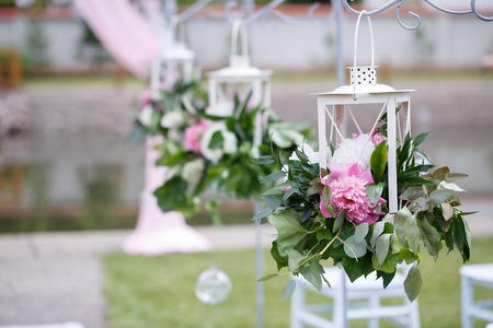 Romantic and delicate decoration for wedding marriage ceremony romantic and delicate decoration for wedding marriage ceremony in the open air stock photo 82978108 junglespirit Image collections