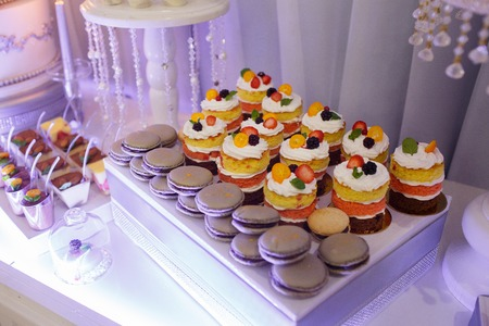 variety of tasty desserts Stock Photo