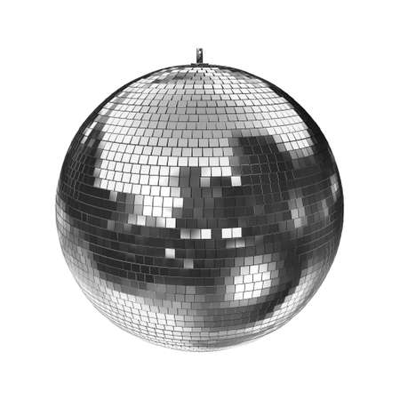 mirrorball: Disco Mirrorball, Discoball, isolated on white