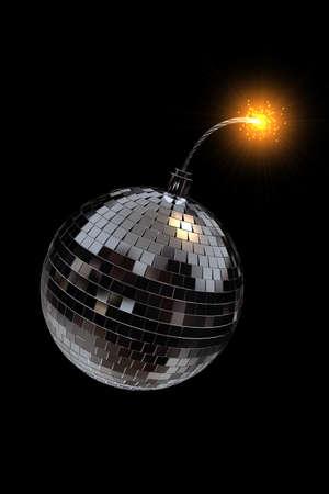 disco mirrorball: Disco Mirrorball as explosive bomb
