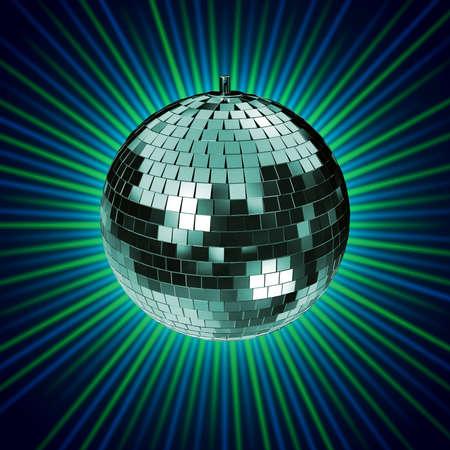 disco mirrorball: Disco Mirrorball, Discoball, on green background