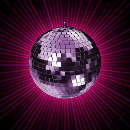 mirrorball: Disco Mirrorball, Discoball, on purple background