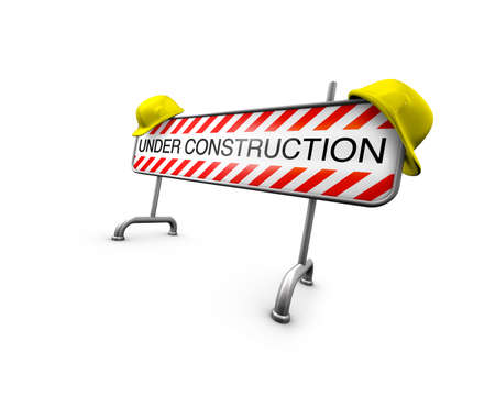 relaunch: under construction - isolated on white