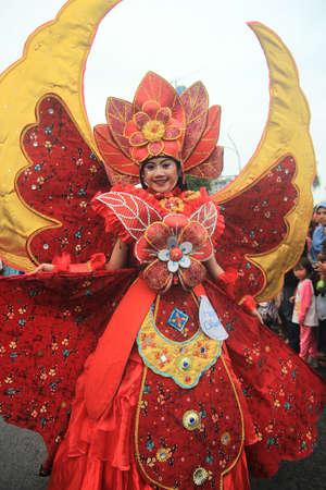 flower parade: flower parade in Surabaya