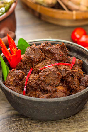 Asian food - Beef rendang. Stock Photo