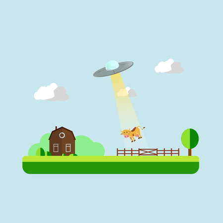 kidnapper: UFO stealing a cow