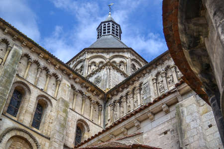 The ancient gothic abbey in the France