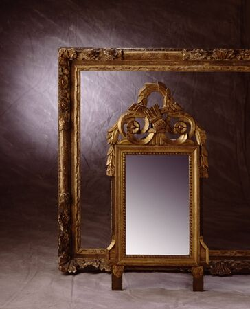 antiquarian: An old frame and mirror