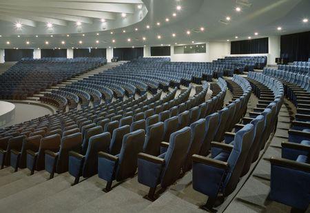 music hall: Large and empty auditorium