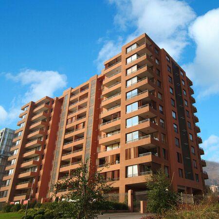 Un edificio de apartamento brandnew en Santiago de Chile Foto de archivo