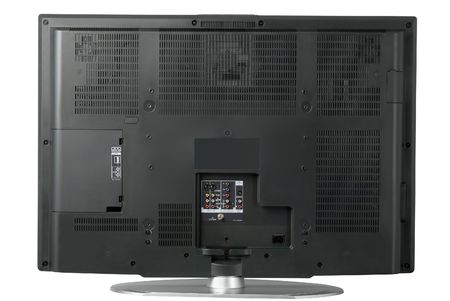 The rear view of a high end LCD television Stock Photo - 464459