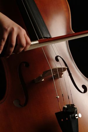 soloist: Close up of a cello player Stock Photo