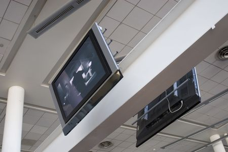 audiovisual: Television at an airport lounge