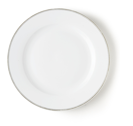 concave: blank and empty dish