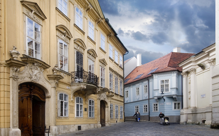 bratislava: View of a typical street in bratislava Stock Photo