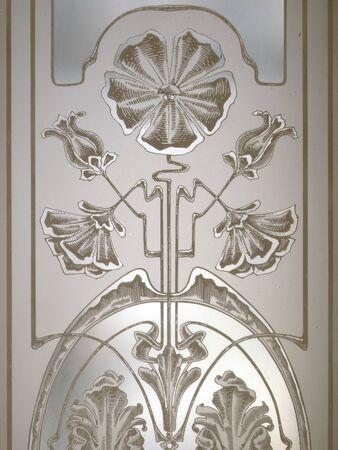 porte ancienne: vieille porte de verre taill� de d�tails