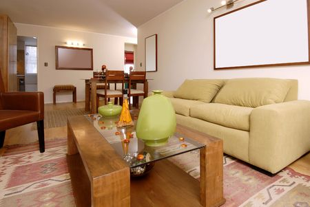 tasteful: interior of modern salon decorated with tasteful Stock Photo