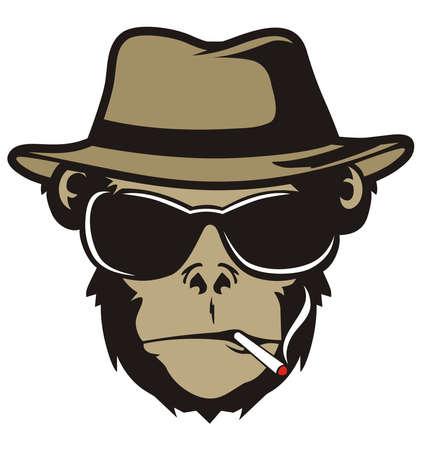 원숭이 COOL 일러스트