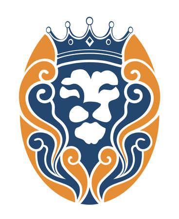LION CLOUD KING VINTAGE Illustration