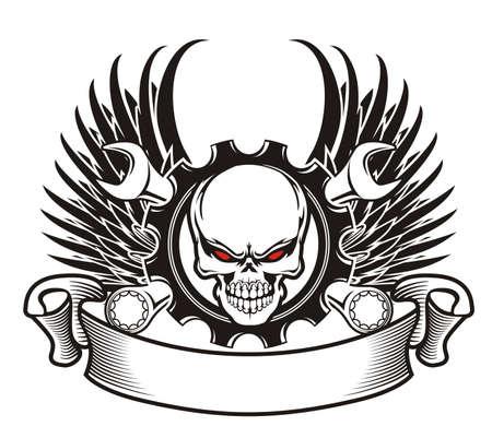 skull wings machine